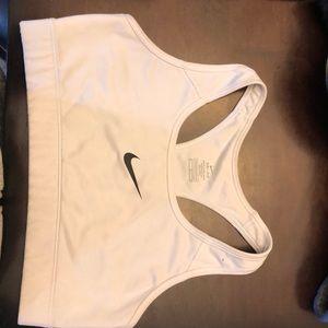 Nike Pro Dri fit sports bra medium white